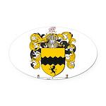 Morris Family Crest Oval Car Magnet