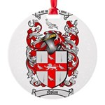 Nolan Family Crest Round Ornament
