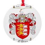 O'Brien Family Crest Round Ornament