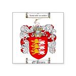 O'Brien Family Crest Square Sticker 3