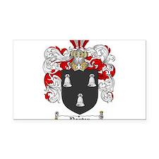 Porter Family Crest Rectangle Car Magnet