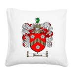 Reeves Family Crest Square Canvas Pillow