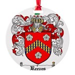 Reeves Family Crest Round Ornament