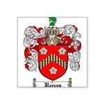 Reeves Family Crest Square Sticker 3