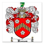 Reeves Family Crest Square Car Magnet 3