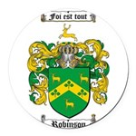 Robinson Coat of Arms Round Car Magnet