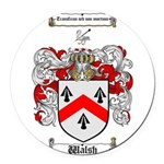 Walsh Coat of Arms Round Car Magnet