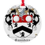Saunders (Wexford)-Irish-9.jpg Round Ornament
