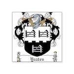 Yeates (Donegal 1675)-Irish-9.jpg Square Sticker 3