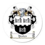 Yeates (Donegal 1675)-Irish-9.jpg Round Car Magnet