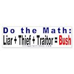 Do the Math Bumper Sticker