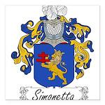 Simonetta_Italian.jpg Square Car Magnet 3