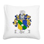 Tofani Family Crest Square Canvas Pillow