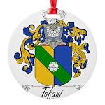 Tofani Family Crest Round Ornament
