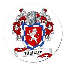 Wallace Coat of Arms Round Car Magnet