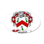 Warden Coat of Arms Oval Car Magnet