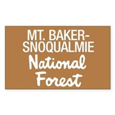 Mt. Baker-Snoqualmie (Sign) N Sticker (Rectangular