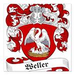 Weller_6.jpg Square Car Magnet 3