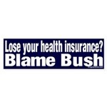 Health Insurance Bush Bumper Sticker
