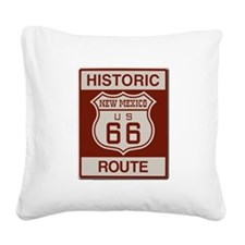 New Mexico Route 66 Square Canvas Pillow