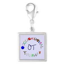 OT at work Silver Square Charm