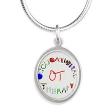 OT at work Silver Oval Necklace