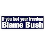 Lost Freedom Bush Bumper Sticker