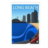 long_beach_travel200.png Postcards (Package of 8)
