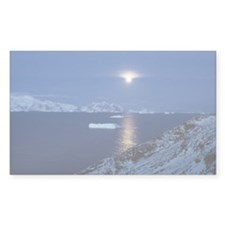 Moon Rise Antarctica Rectangle Decal