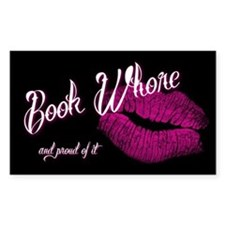 Book Whore Decal 3x5 Decal