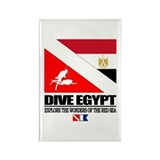 Dive Egypt Rectangle Magnet