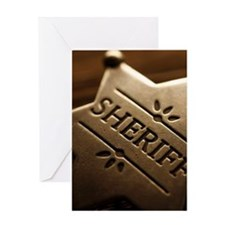 Sherrif's Badge Greeting Card