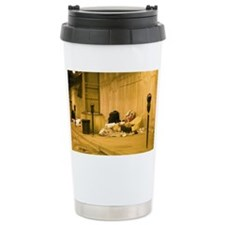 Homeless Encampment Under the C Ceramic Travel Mug