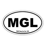 Mongolia Oval Decal