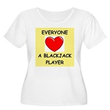 blackjack Plus Size T-Shirt