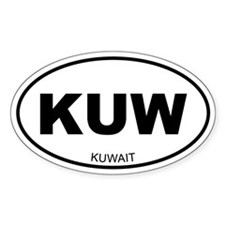 Kuwait Oval Decal