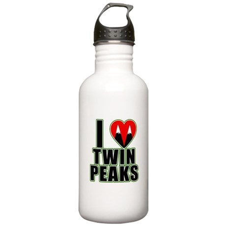 I Love Twin Peaks Stainless Water Bottle 1.0L