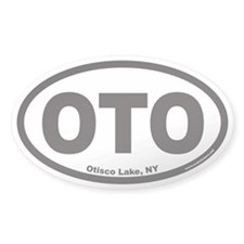 Otisco Lake OTO Euro Oval Decal