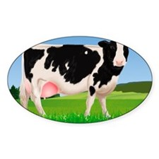 A cow in the field, illustration Decal