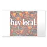 Buy Local. Rectangle Decal