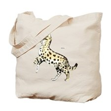 Serval African Wild Cat Tote Bag