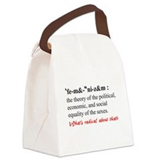 Feminism Defined Canvas Lunch Bag