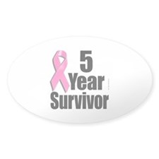 5 Year Survivor D1 Oval Decal