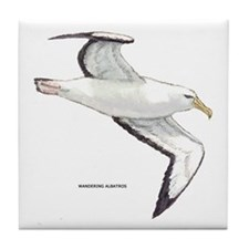Wandering Albatross Bird Tile Coaster