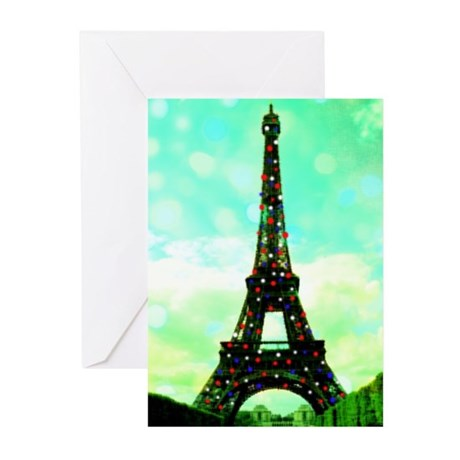 Eiffel Tower Christmas Tree card