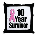 10 Year Survivor D1 Throw Pillow