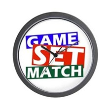game set match Wall Clock