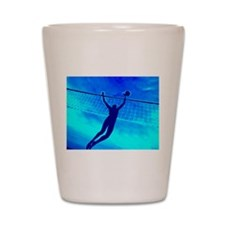 VOLLEYBALL BLUE Shot Glass