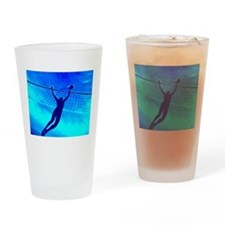 VOLLEYBALL BLUE Drinking Glass