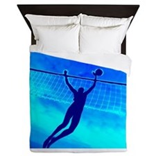 Volleyball Blue Queen Duvet